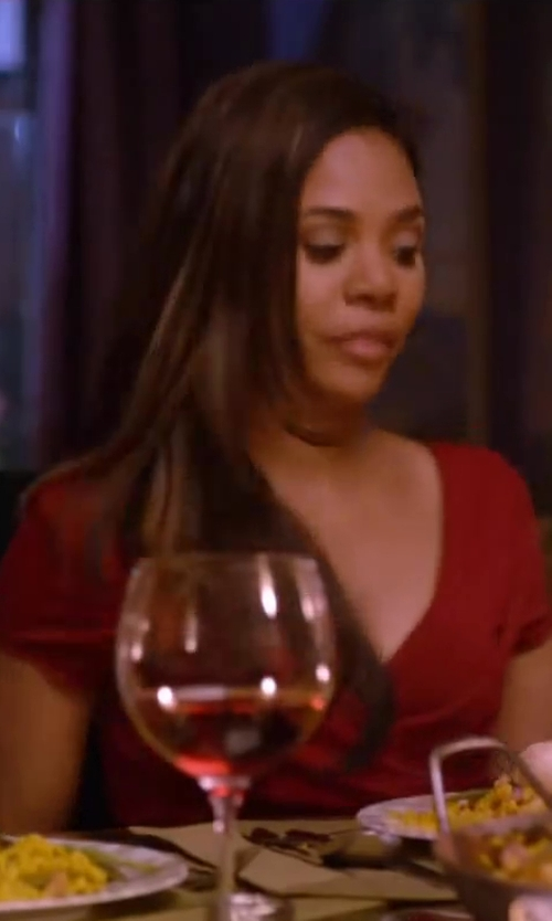 Regina Hall with Love V-Neck Tea Dress in About Last Night