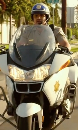 Michael Peña with 2010 BMW R1200 RT-P Motorcycle in CHIPs