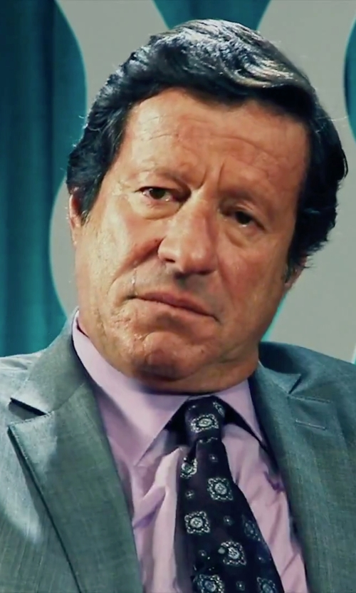 Joaquim de Almeida with Boss 'Miles' Sharp Fit End-on-End Dress Shirt in Our Brand Is Crisis