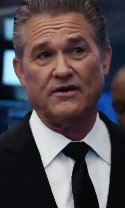 Kurt Russell with Lanvin Solid Silk Tie in The Fate of the Furious