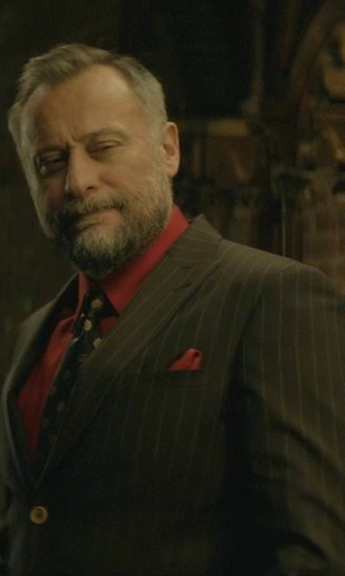 Michael Nyqvist with Lanvin Silk Pocket Square in John Wick