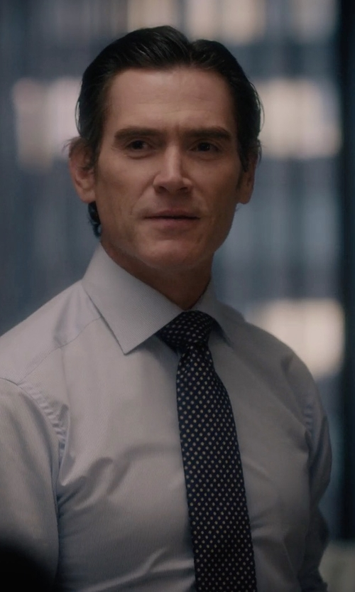 Billy Crudup with Tom Ford Dot-Print Silk Tie in Gypsy