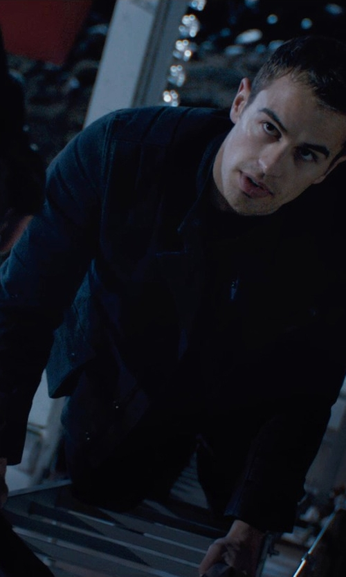 Theo James with Carlo Poggioli (Costume Designer) Custom Made Four 'Dauntless' Jacket in Divergent