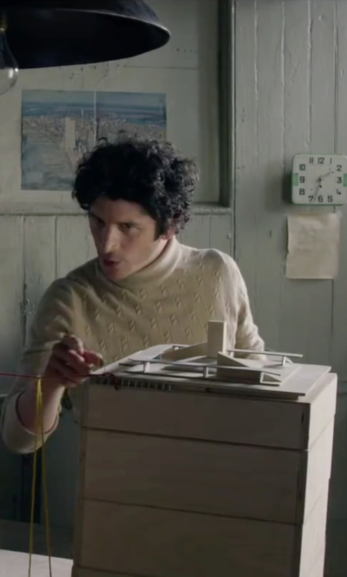 Ben Schwartz with S_D Side Turtleneck Sweater in The Walk
