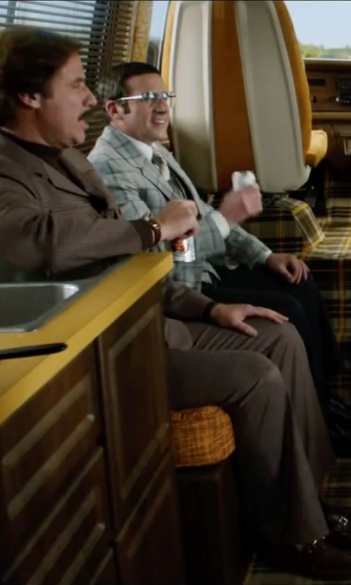 Will Ferrell with Magnanni for Neiman Marcus Leather Bit Loafer in Anchorman 2: The Legend Continues