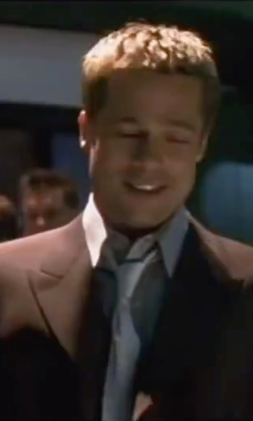 Brad Pitt with Perry Ellis Suit Separate Jacket in Ocean's Eleven