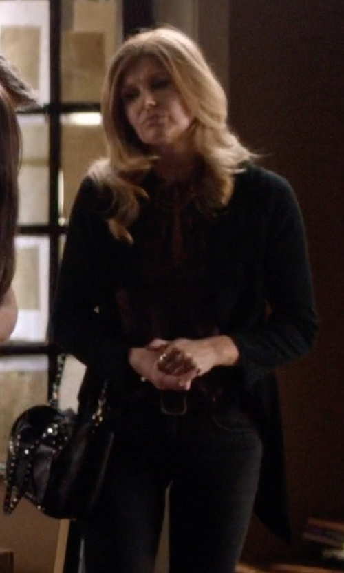 Connie Britton with Velvet By Graham & Spencer Draped Cardigan in Nashville
