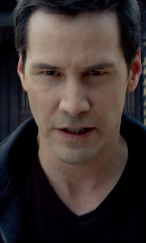 Keanu Reeves with Splendid Heavy Slub Jersey V-Neck Tee in Man of Tai Chi