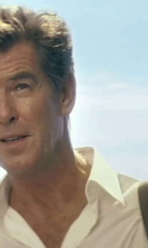 Pierce Brosnan with Nordstrom Traditional Fit Solid Dress Shirt in Mamma Mia!