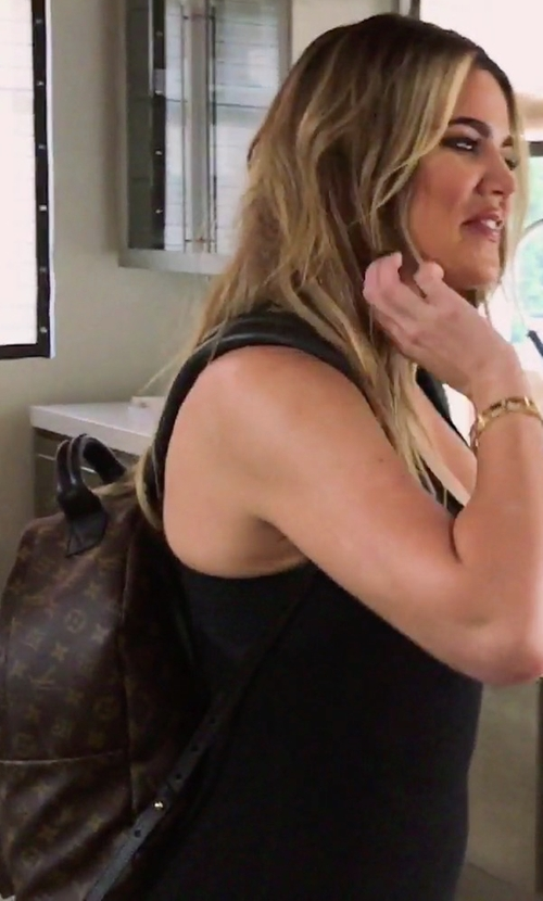 Khloe Kardashian with Louis Vuitton Palm Springs Backpack in Keeping Up With The Kardashians