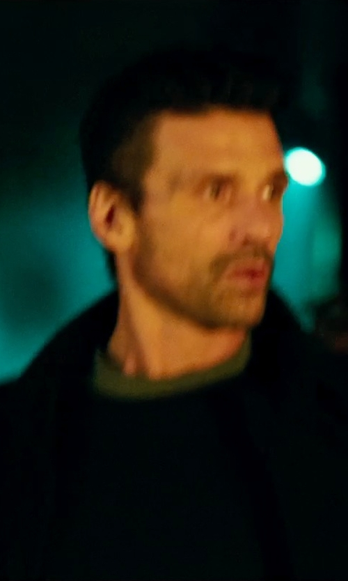 Frank Grillo with Reigning Champ Mid Weight Terry Sweatshirt in The Purge: Anarchy