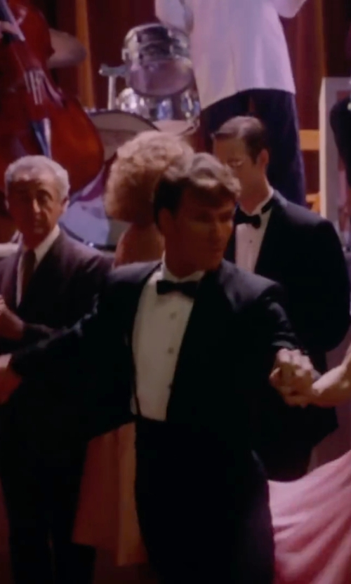 Patrick Swayze with Boss 'Sky Gala' Shawl Lapel Tuxedo in Dirty Dancing