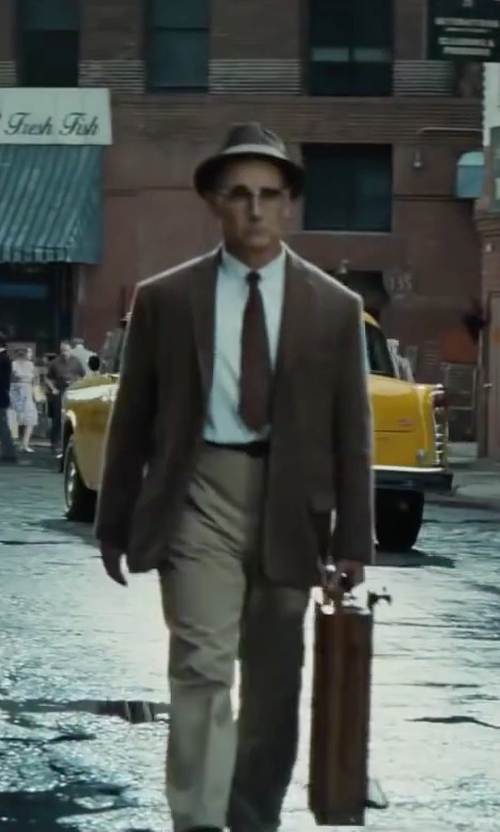 Mark Rylance with Perry Ellis Twill Non-Iron Shirt in Bridge of Spies