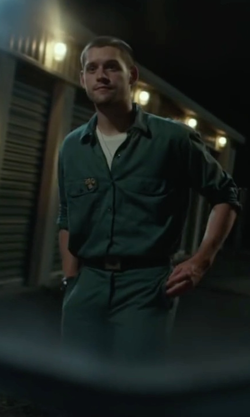 Luke Kleintank with American Work Apparel Spruce Green Twill Action Back Coverall in Max