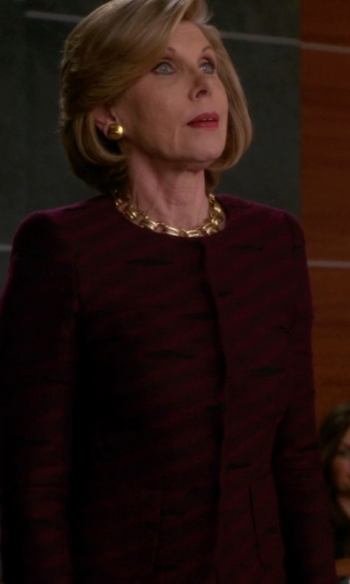 Christine Baranski with Thierry Mugler Vintage Striped Jacket in The Good Wife