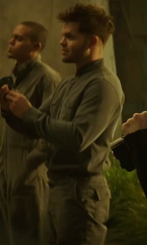 Wes Chatham with Kurt and Bart (Costume Designer) Custom Made Men's Coverall (Castor) in The Hunger Games: Mockingjay - Part 2