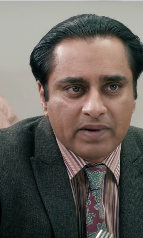 Sanjeev Bhaskar with John Varvatos Peak Lapel Blazer in Absolutely Anything