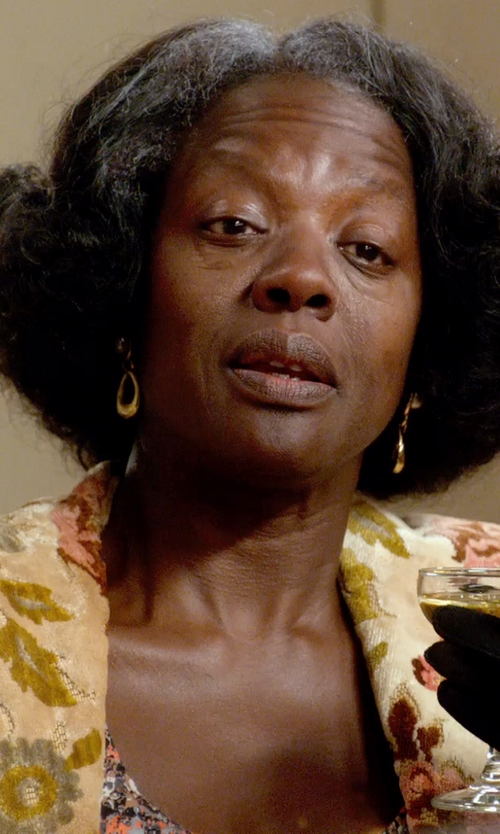 Viola Davis with Coralia Leets Labradorite Jumbo Stone Post Earrings in Get On Up
