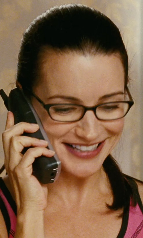 Kristin Davis with Prada Matte Black Plastic Eyeglasses in Sex and the City