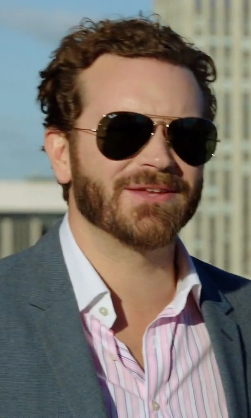 Danny Masterson with Ray-Ban Classic Aviator Sunglasses in Urge