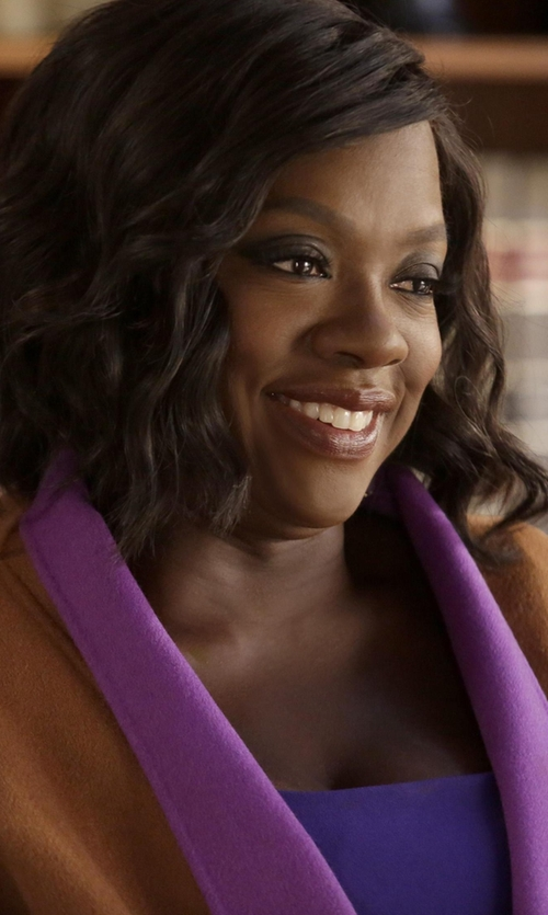 Viola Davis with Fendi Colorblock Coat in How To Get Away With Murder