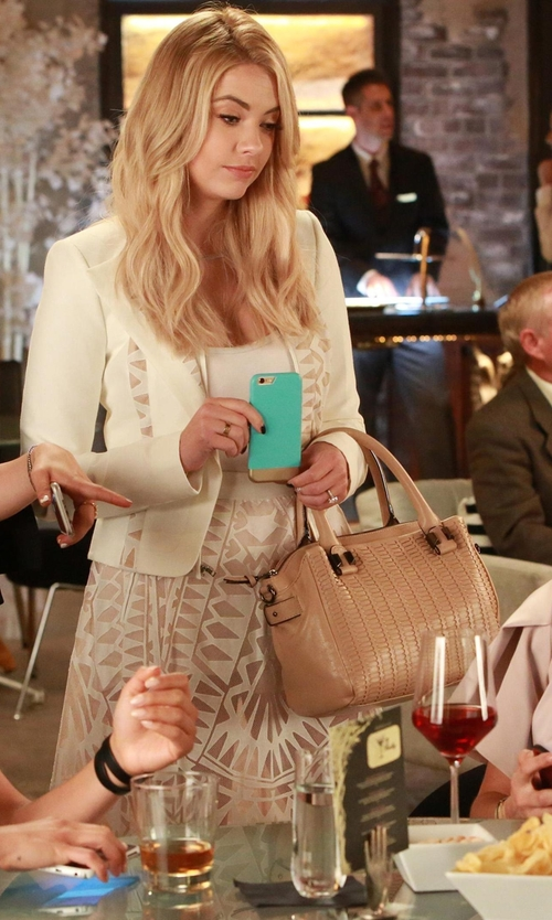 Ashley Benson with Elliott Lucca  Bali '89 Isabel Satchel Bag in Pretty Little Liars