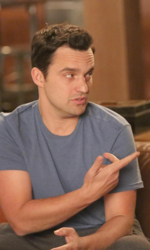 Jake Johnson with Zanerobe Flintlock T-Shirt in New Girl