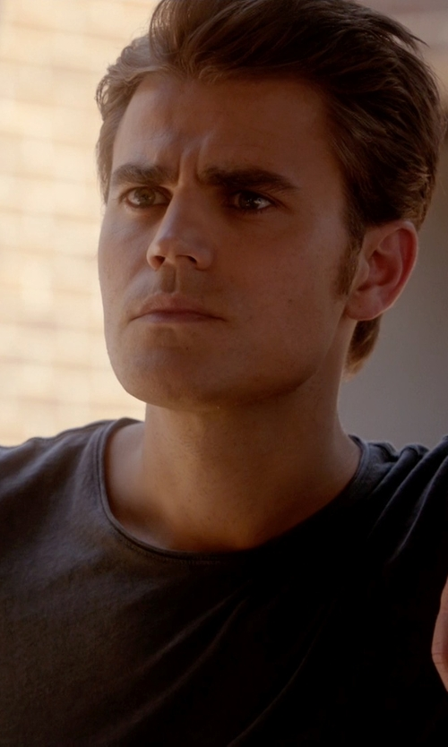 Paul Wesley with T By Alexander Wang Slub Jersey T-Shirt in The Vampire Diaries