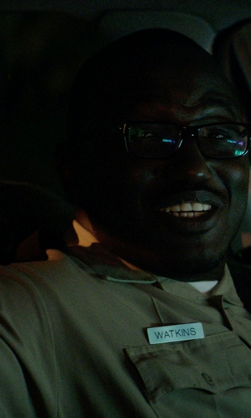 Hannibal Buress with Horace Small New Dimension Short Sleeve Stretch Poplin Shirt in Neighbors