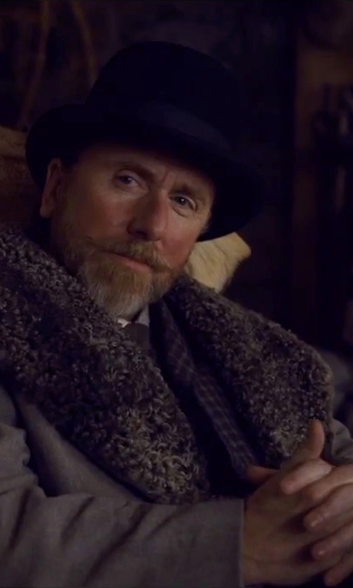 Tim Roth with Loro Piana Burt Fedora Hat in The Hateful Eight