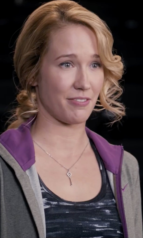 Anna Camp with Inspired Moments Faith Key Pendant Necklace in Pitch Perfect