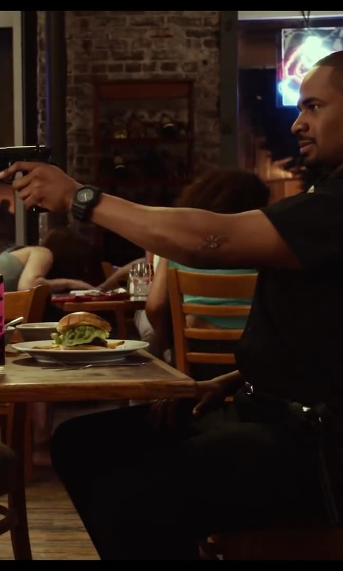 Damon Wayans Jr. with G-Shock Big Combi Military Series Watch in Let's Be Cops