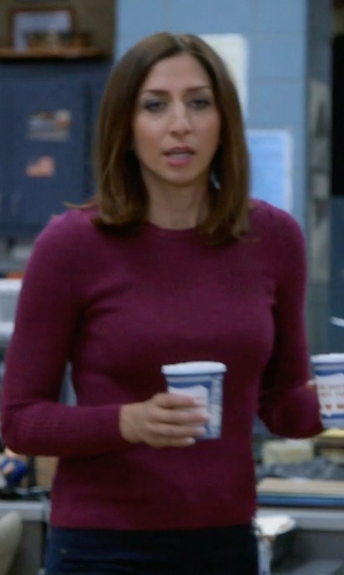 Chelsea Peretti with Lord & Taylor Crewneck Cashmere Sweater in Brooklyn Nine-Nine