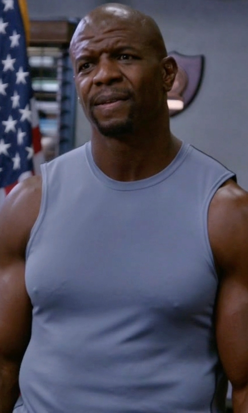 Terry Crews with Selected Homme Tank Top in Brooklyn Nine-Nine