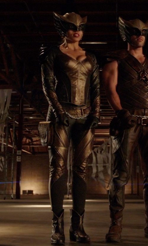 Ciara Renée with Maya Mani (Costume Designer) Custom Made 'Hawkgirl' Costume in Arrow