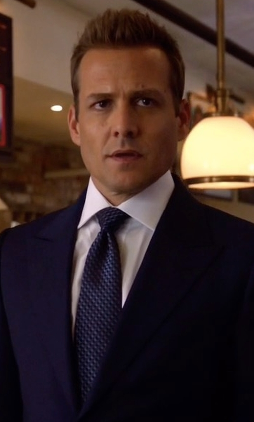 Gabriel Macht with Kiton Check Silk Tie in Suits