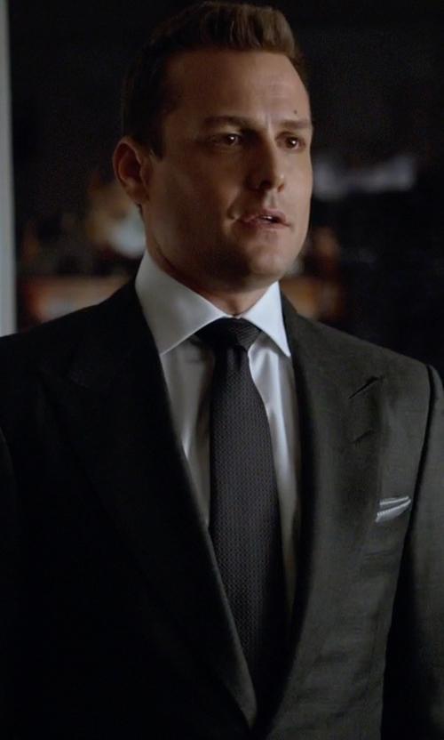 Gabriel Macht with Calvin Klein Micro Solid Slim Tie in Suits