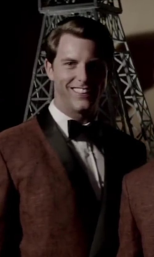 Michael Lomenda with David Donahue Regular Fit Tuxedo Shirt in Jersey Boys