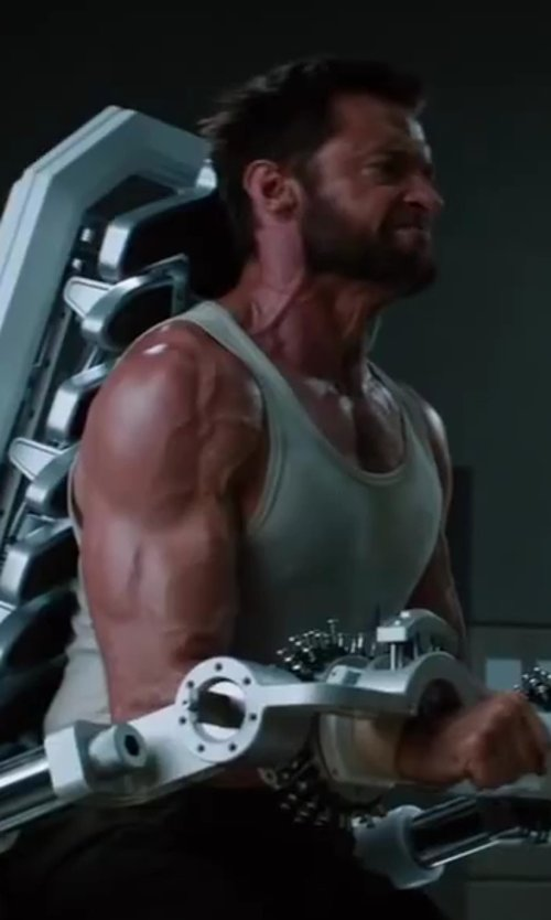 Hugh Jackman with Zimmerli Richelieu Rib Tank Shirt in The Wolverine