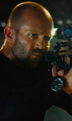 Jason Statham with IWC Aquatimer 2000 Automatic Titanium Watch in Mechanic: Resurrection