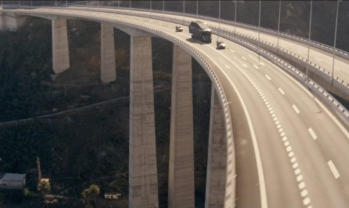 Unknown Actor with Cuesta da Silva Viaduct Gran Canaria Island, Spain in Fast & Furious 6