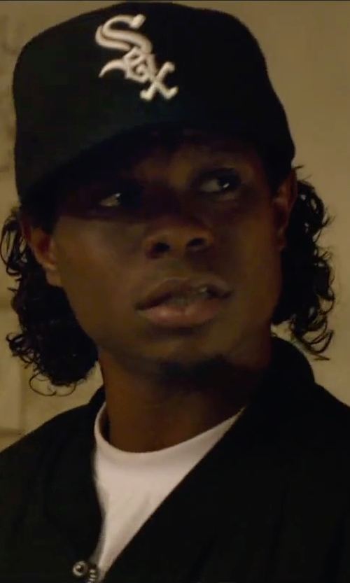 Jason Mitchell with New Era 59Fifty Chicago White Sox Authentic Collection Hat in Straight Outta Compton
