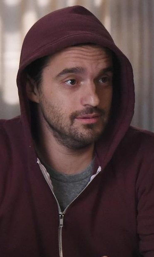 Jake Johnson with Saks Fifth Avenue Collection Full Zip Hoodie in New Girl