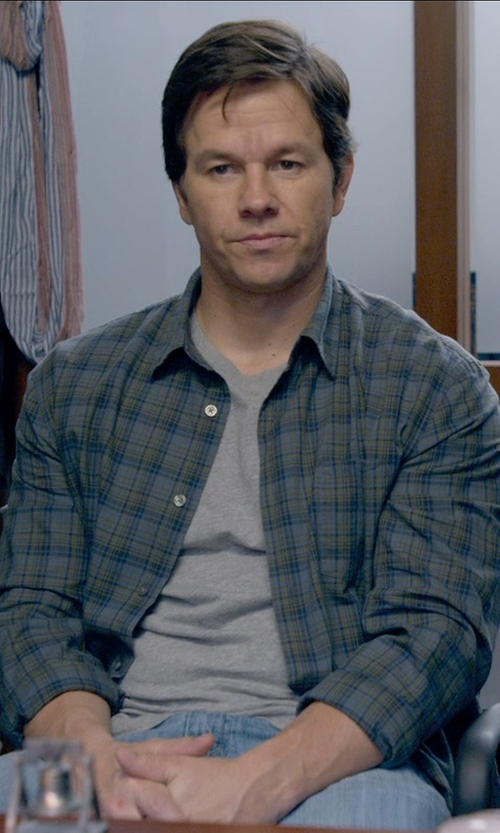 Mark Wahlberg with Armani Jeans Straight-Leg Jeans in Ted 2