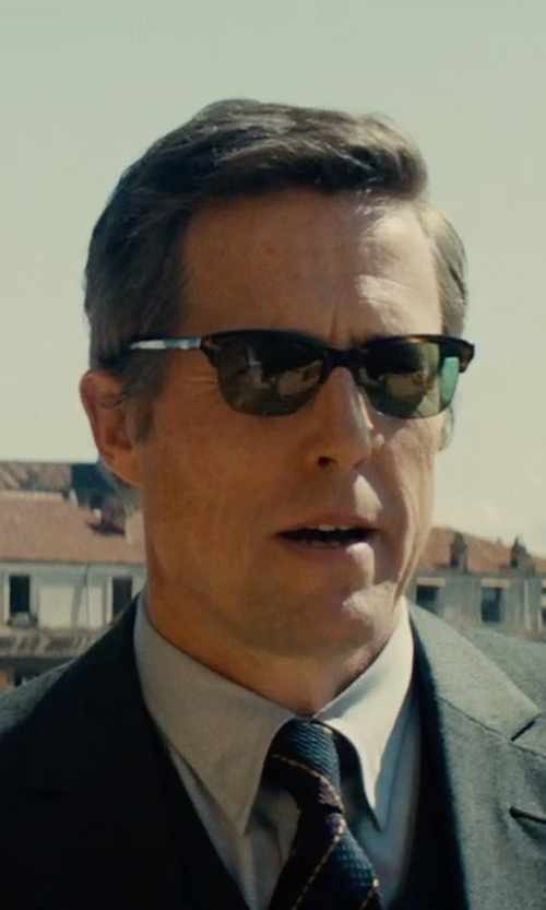 Hugh Grant with Ray-Ban Clubmaster Square Sunglasses in The Man from U.N.C.L.E.