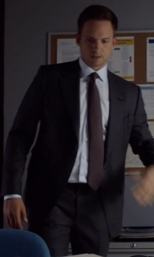 Patrick J. Adams with Giorgio Armani Soft Basic Two-Piece Suit in Suits
