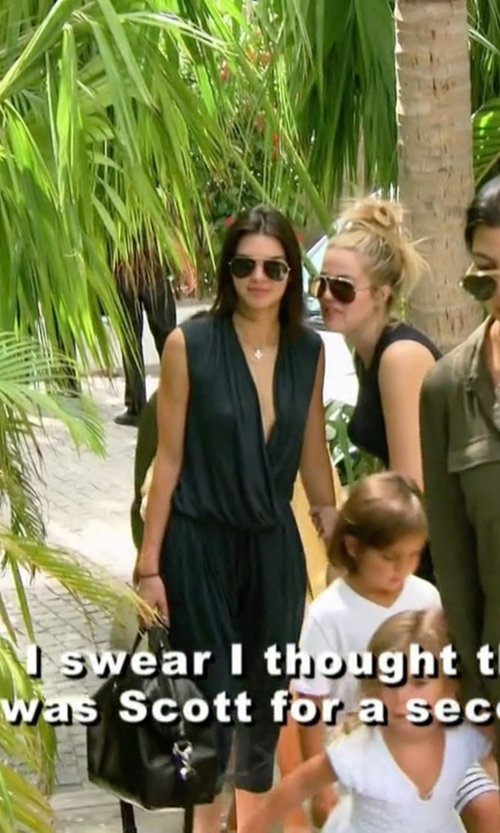 Kendall Jenner with Helmut Lang Jersey Sleeveless Jumpsuit in Keeping Up With The Kardashians