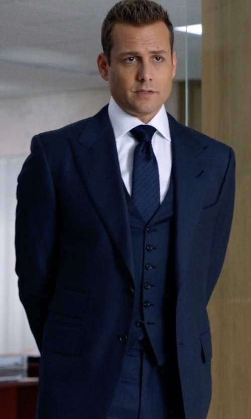 Gabriel Macht with Tom Ford O'Connor Base Prince of Wales Three-Piece Suit in Suits