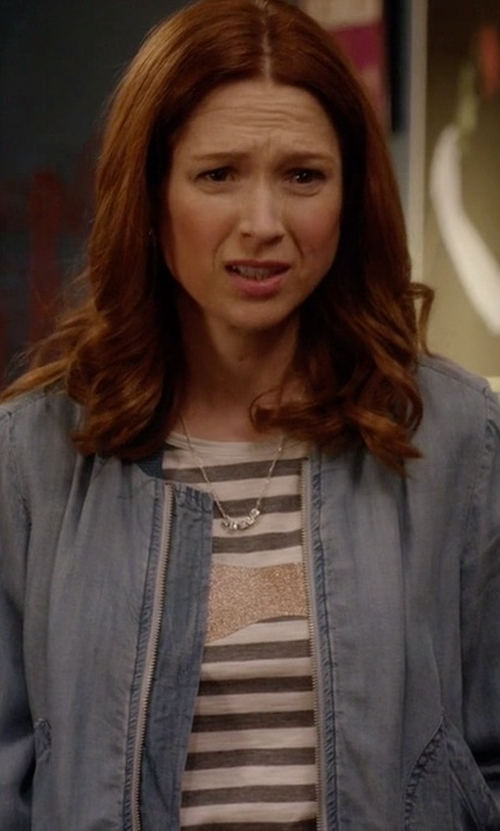Ellie Kemper with Sundry Striped East Side Loose Tee in Unbreakable Kimmy Schmidt
