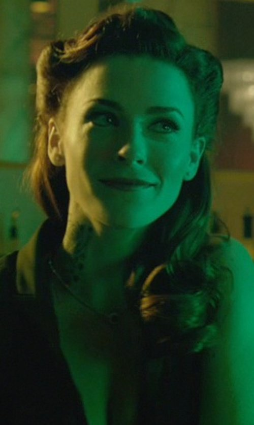 Bridget Regan with John Hardy Round Pendant on Whisper Chain Necklace in John Wick